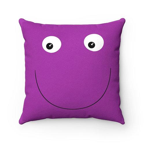 Smile - Faux Suede Square Pillow