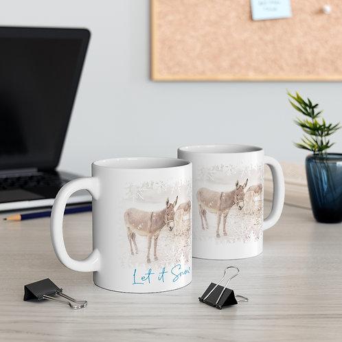 Let it Snow Donkeys - Mug 11oz