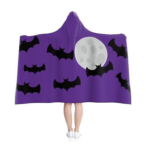Bats - Purple Hooded Blanket