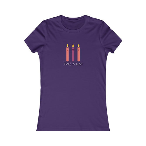 Make A Wish - 3 Candles - Women's Tee