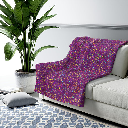 Paint Splatter - Sherpa Fleece Blanket