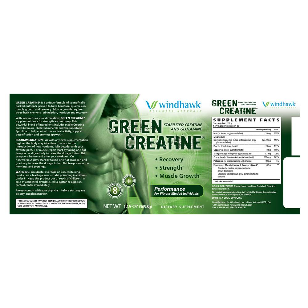 Green Creatine Label