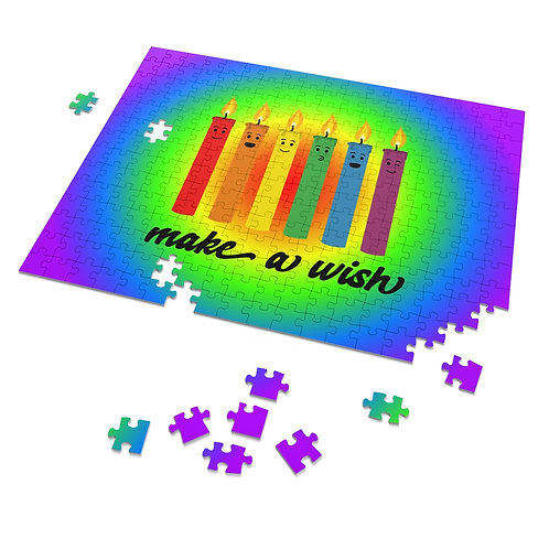 Make a Wish - Rainbow Candles - 252 Piece Puzzle