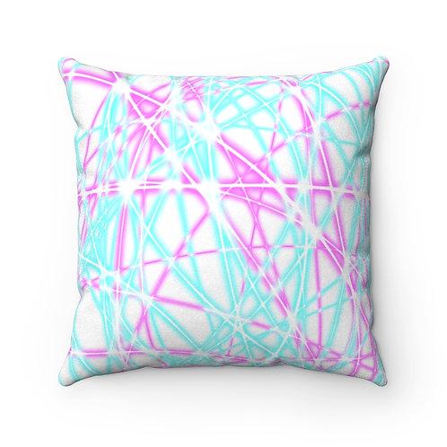 Light Swirls - Faux Suede Square Pillow Case