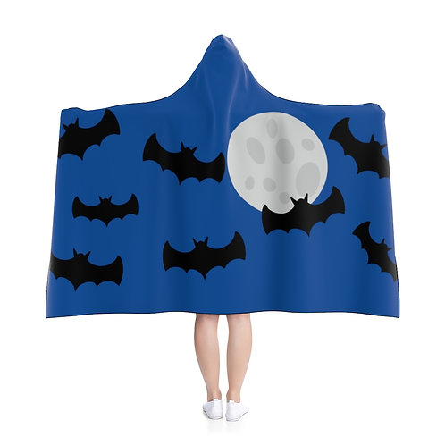 Bats - Blue Hooded Blanket