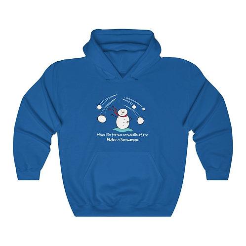 When Life Throws Snowballs - Unisex Heavy Blend™ Hooded Sweatshirt
