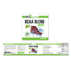 BFD BCAA Blend Label