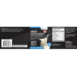Family Dollar Whey Protein Label