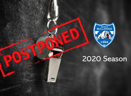 Junior League Season 2020 Postponed