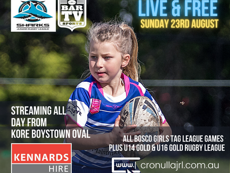 Broadcasting live from Kore Boystown Oval this Sunday...