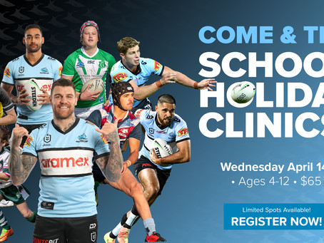 Cronulla Sharks School Holiday Come & Try Clinics