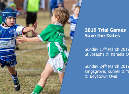 Bosco trial game dates 2019