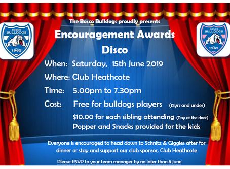 Encourage Awards & Kids Disco 2019