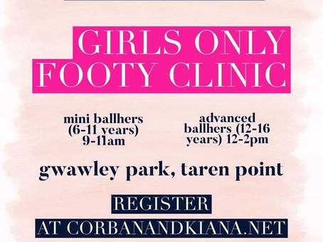 Girls Only Footy Clinic