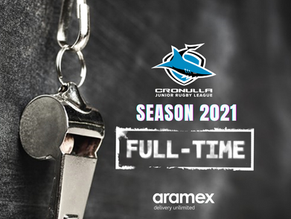 Cronulla JRL blows full-time on 2021 season