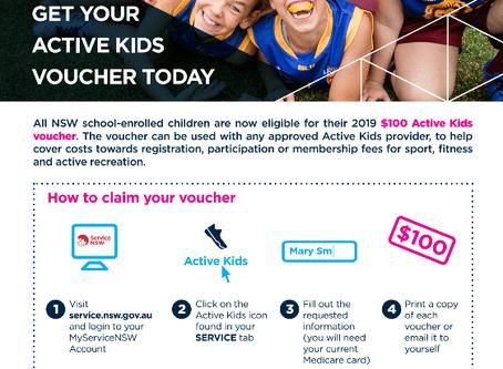 More Active Kids Vouchers...