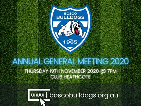 Bosco Bulldogs AGM 2020