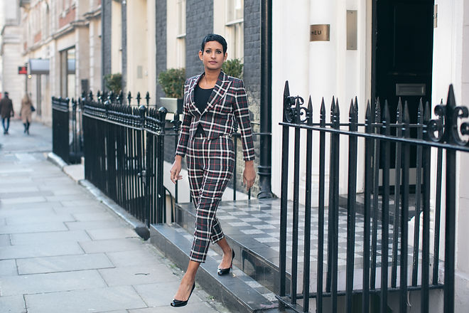 Naga Munchetty, bespoke suit, Threadgold