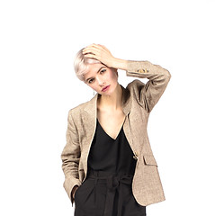 Wool, silk and linen summer jacket