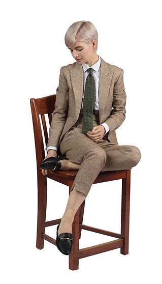 Wool, silk and linen summer suit