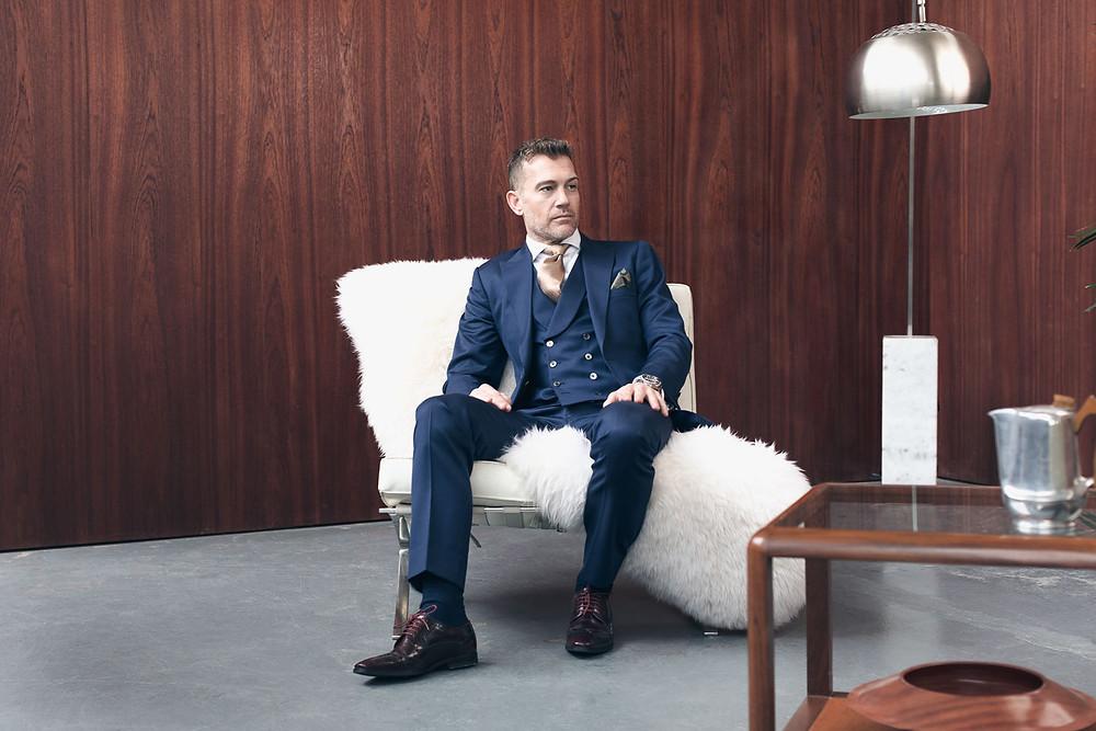 bespoke three piece suit