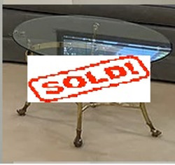 small brass table sold