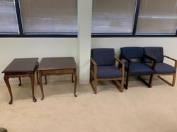 Chairs - $5 each. End tables $8 each.