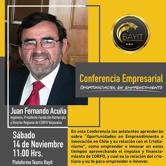 Webinar Online Conferencia sobre Oportunidades en Emprendimiento e innovación en Chile y su relación con el Cristianismo