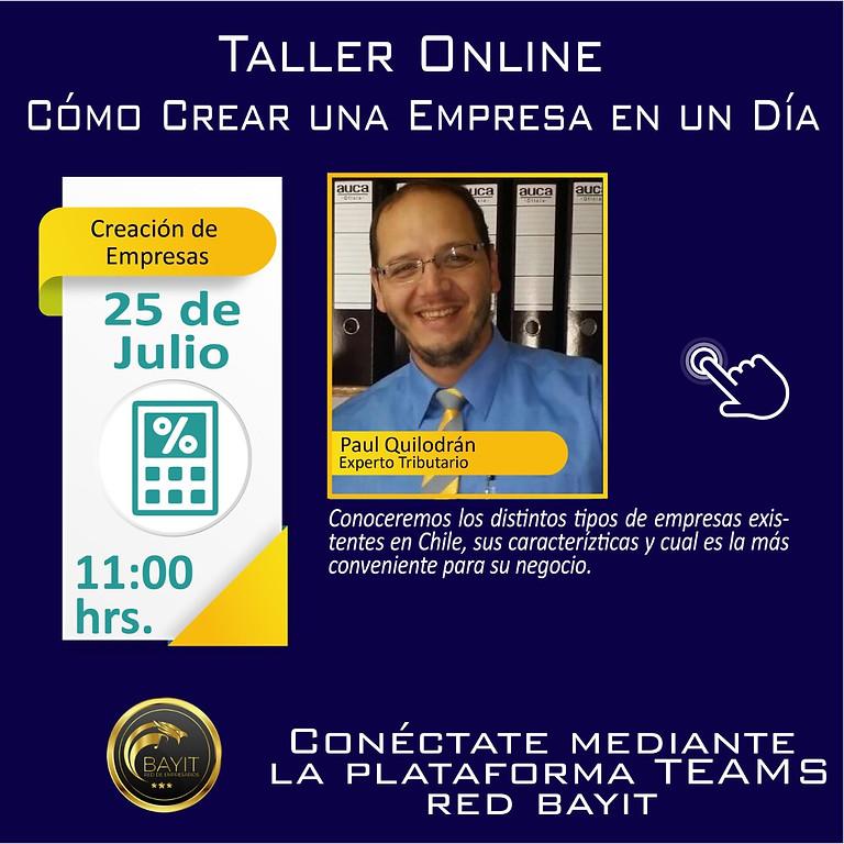 Taller Online: Cómo Crear una Empresa