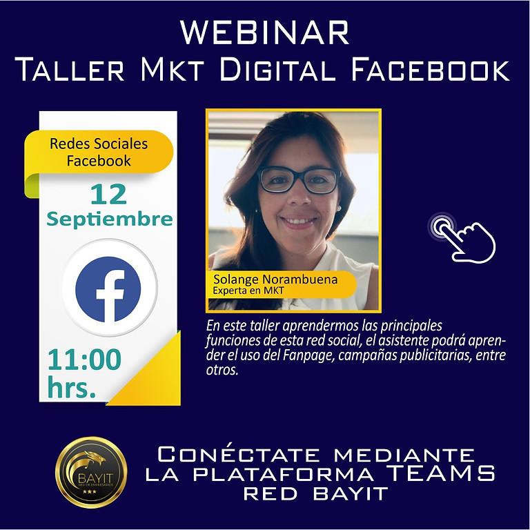 Webinar Online: Marketing Digital - RRSS Facebook