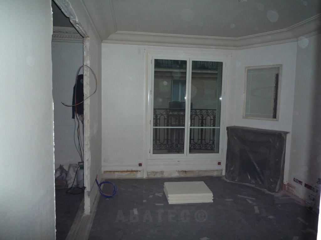 appartement : salon avant travaux