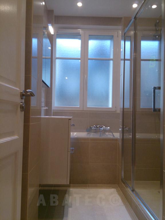 pose et agencement : salle de bain