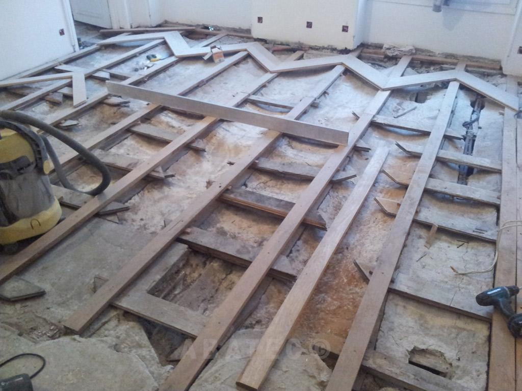 rénovation parquet sur lambourdes