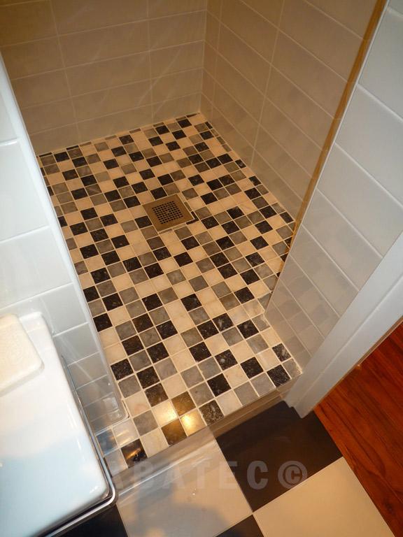 rénovation : douche à l'italienne