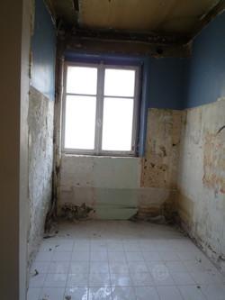 salle de bain après démolition