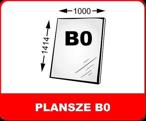 WYDRUKI PLANSZ NA PIANKACH / PCV B0
