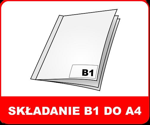 SKŁADANIE WIELKOFORMATOWE B1 DO A4