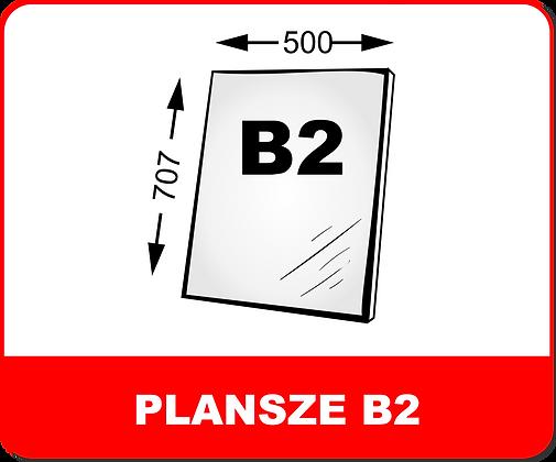 WYDRUKI PLANSZ NA PIANKACH / PCV B2