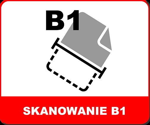 SKANOWANIE WIELKOFORMATOWE B1