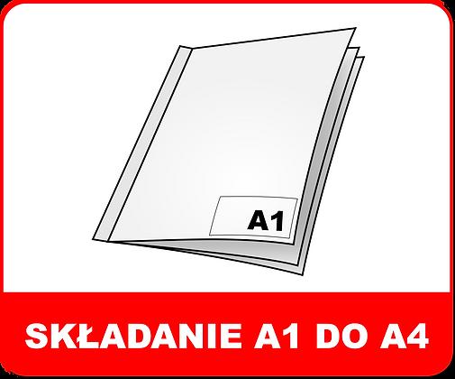 SKŁADANIE WIELKOFORMATOWE A1 DO A4