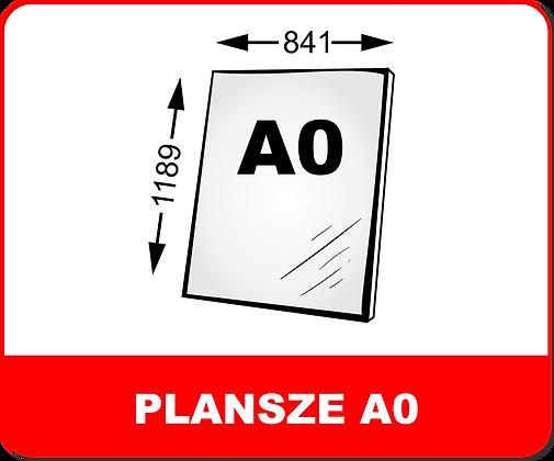 WYDRUKI PLANSZ NA PIANKACH / PCV A0