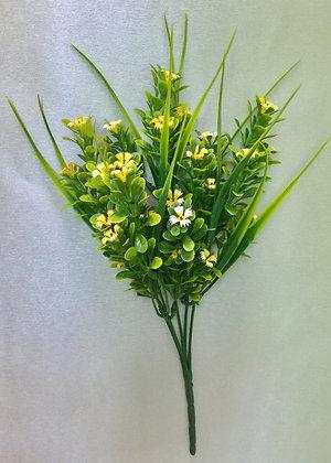 Трава с цветами