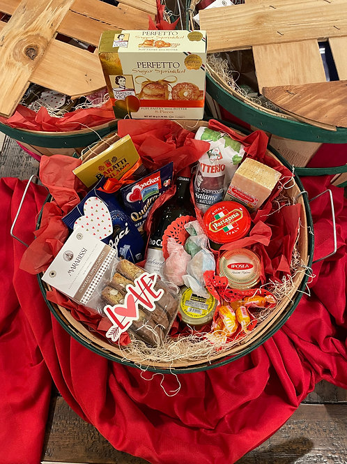 Valentine's Day Small Antipasto & Sweets Basket