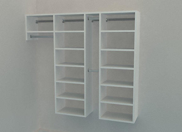Reach in Wardrobe - Up to 3200mm - 4 Bay