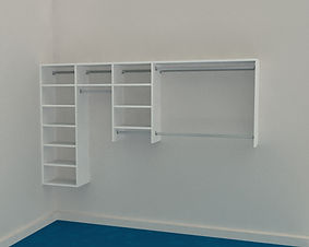 Reach in Wardrobe - Up to 2200mm - 4 Bay