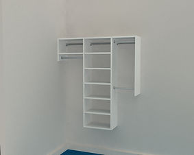 Reach in Wardrobe - Up to 1600mm wide - 3 Bay
