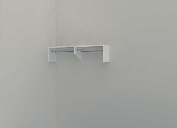 Wardrobe - Single Shelf with Rail 1600mm 2 Bay