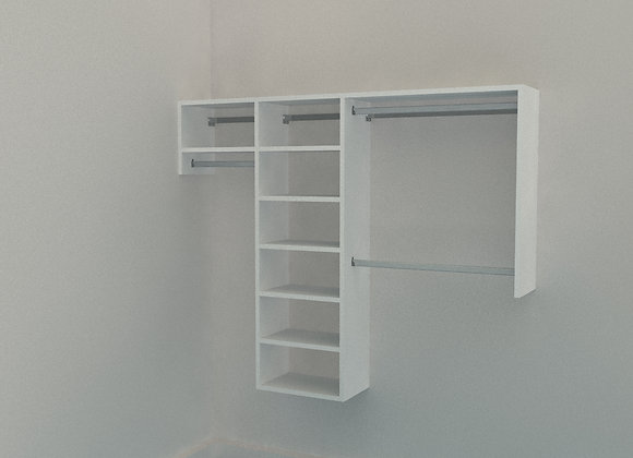 Reach in Wardrobe - up to 2200mm - 3 Bay