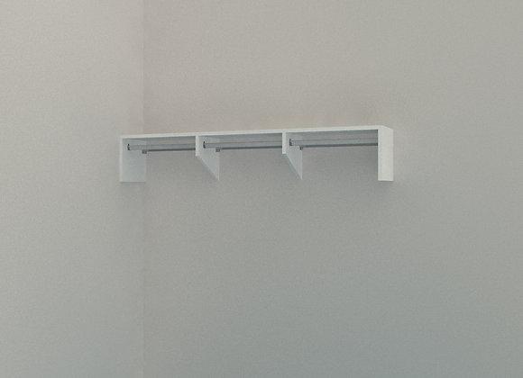 Wardrobe - Single Shelf with Rail 1800mm 3 Bay
