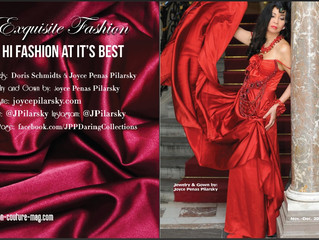 JPP Daring Collections featured in Fashion Couture Magazine Holiday Issue 2015